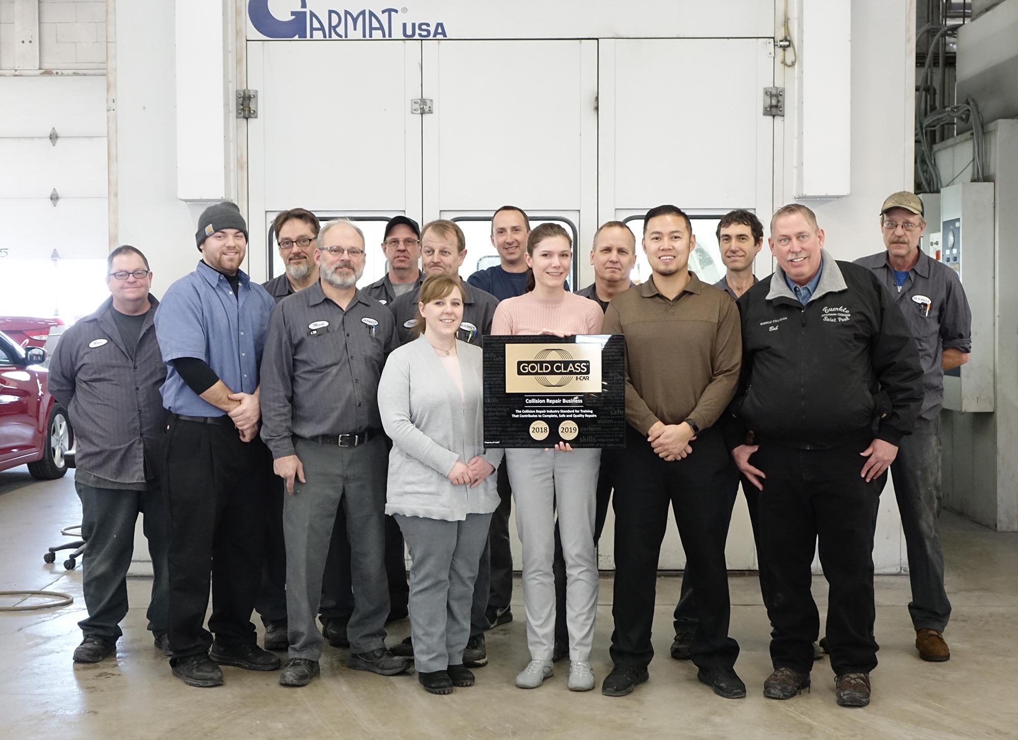 Technicians and estimators group photo